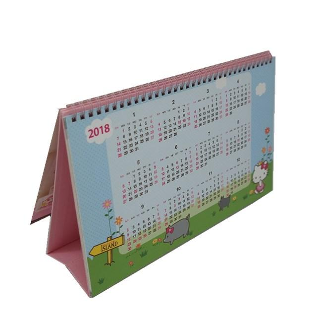 Reusable Personalized Daily Desk Calendar With Cute Hello Kitty Cartoon
