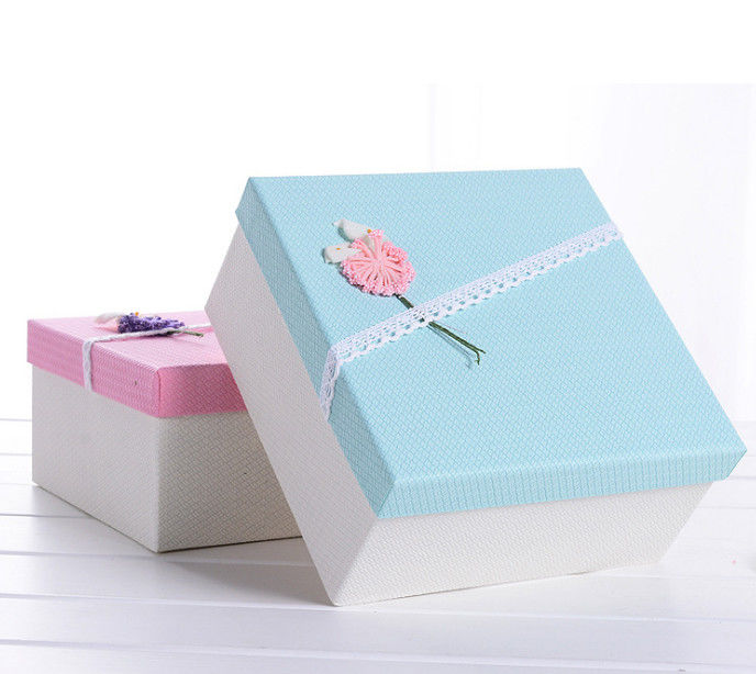 Rigid Paper Gift Box Try Flower Decorative Cardboard Boxes For Gifts