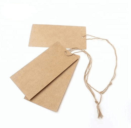 Recycled Custom Printed Paper Tags / Hang Tag Label With Digital Printing