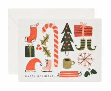 Recyclable Craft Paper Folding Greeting Cards Offset Printing