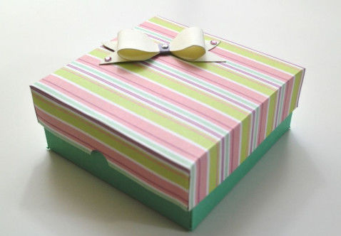 Customized Luxury Paper Gift Box , Recycled Paper Drawer Box