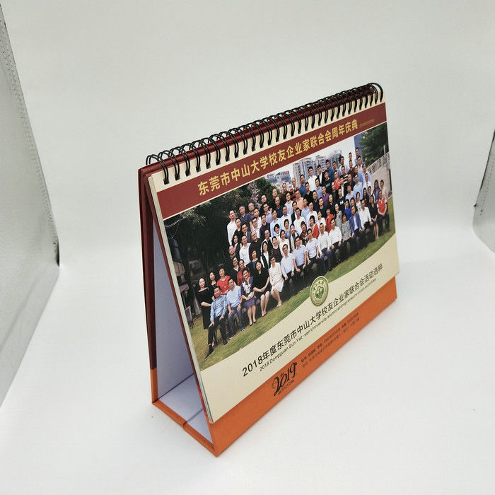 Full Color Printing Custom Desk Calendar With 300G Double Adhesive Tape