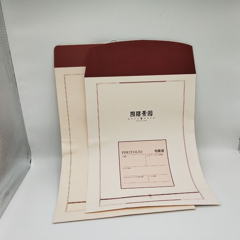 Eco Friendly Printed Paper Envelopes With 180G White Kraft Paper Material