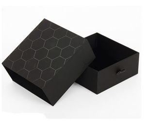 Luxury Black Rigid Paper Display Box , Printed Cardboard Gift Boxes With Lids