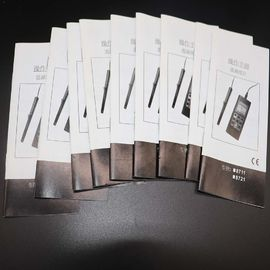 Black / White Binding Small Booklets ,Saddle Stitch Magazine For Product Instruction