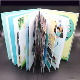 Art Paper Saddle Stitched Booklet , Varnishing Surface Saddle Stitched Brochure