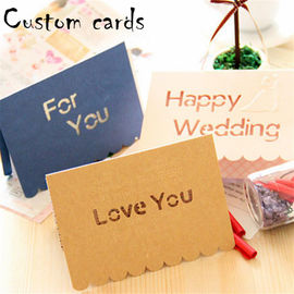 Decorative Paper Greeting Cards CMYK Color With 4C Offset Printing