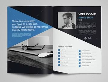 Cost Effective Corporate Business Brochure , Printable Graphic Design Pamphlet