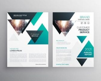 Customized Corporate Business Brochure , Printable Business Brochure Templates