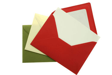 Coated Paper Birthday Greeting Cards With Envelopes CMYK Color
