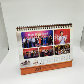 Paper Personalised Desk Calendar / Logo Printing Stand Up Desk Calendar